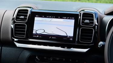 Citroen C5 Aircross SUV infotainment display