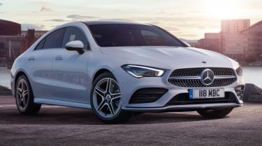 Mercedes CLA saloon front 3/4 static