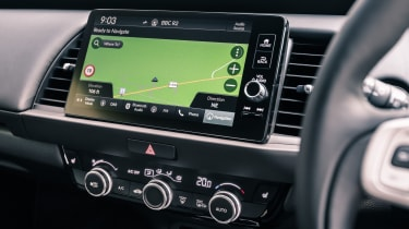 Honda Jazz hatchback infotainment display