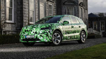 2021 Skoda Enyaq prototype - static 3/4 view