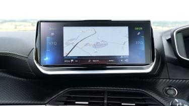 Peugeot e-2008 SUV infotainment display