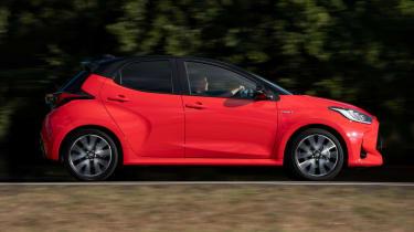 Toyota Yaris hatchback side panning
