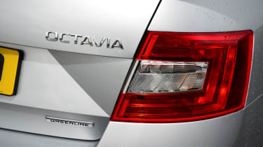 LED rear lighting is available on the Octavia, but only on the expensive Laurin & Klement and vRS versions.