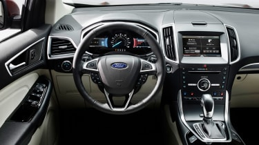 The Edge interior features a 10-inch touchscreen display for the SYNC 3 infotainment system.