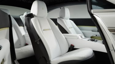 Interior trim can be specified in almost any colour, along with intricate designs including the Starlight Headliner
