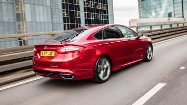 Ford Mondeo hatchback rear 3/4 tracking motorway