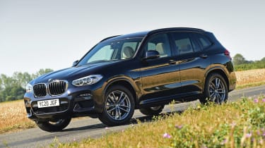 BMW X3 SUV front 3/4 static