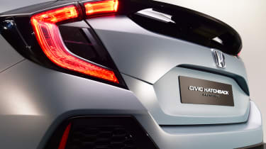 The new Honda Civic aims to be as readily identifiable at night as in daylight.