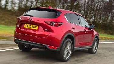 Mazda CX-5 SUV rear 3/4 tracking