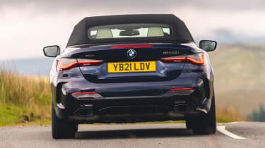 BMW 4 Series Convertible rear dynamic