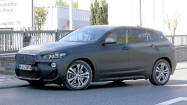 BMW X2 facelift in slight camouflage