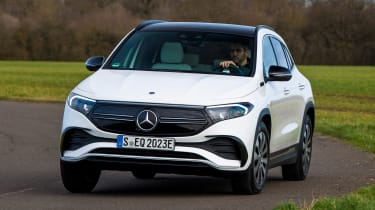 Mercedes EQA SUV review front cornering