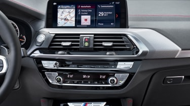 BMW X4 detail interior shot, centre console
