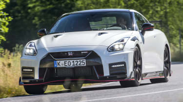 Nissan GT-R Nismo front cornering