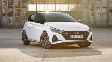 2021 Hyundai i20 N Line - front 3/4 static