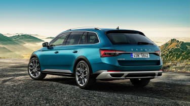 2019 Skoda Scout Superb - rear view