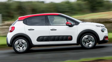 Citroen's 'Airbump' moulded plastic pockets protect the doors from dents