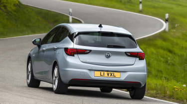 2019 Vauxhall Astra hatchback - dynamic rear view