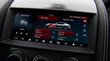 Jaguar F-Type coupe infotainment display
