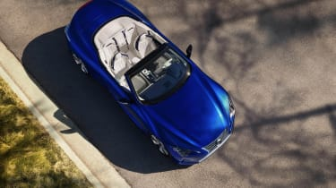 Lexus LC500 Convertible top view