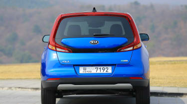 Kia Soul EV hatchback rear static