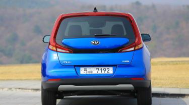 Kia Soul EV hatchback rear static