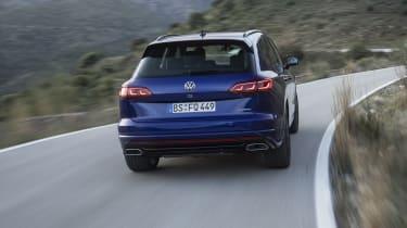 Volkswagen Touareg R driving - rear view