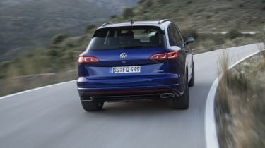 Volkswagen Touareg R driving - rear view