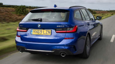 BMW 3 Series Touring driving - rear view