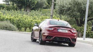Maserati GranTurismo coupe rear cornering