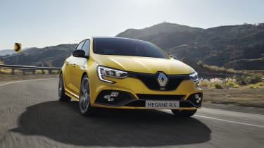 2020 Renault Megane RS - dynamic front 3/4 view