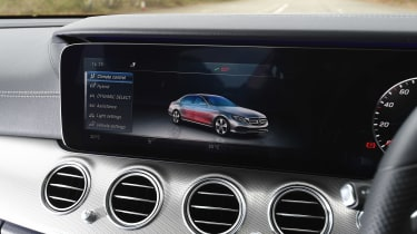 The central screen also accesses information and settings for the car and its plug-in hybrid system