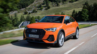 Audi Q3 Sportback SUV front 3/4 tracking