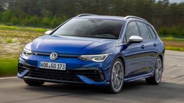 2021 Volkswagen Golf R Estate - front 3/4 driving
