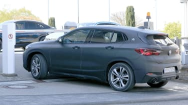 BMW X2 facelift rear/side view