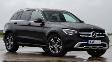 Mercedes GLC SUV front 3/4 static