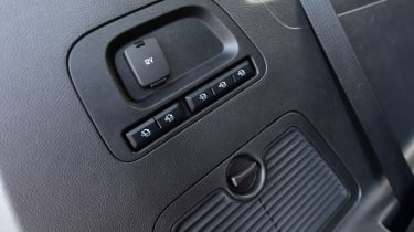Buttons in the boot of the car allow you fold down the seats remotely.
