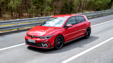 2020 Volkswagen Golf GTI  - front 3/4 view driving