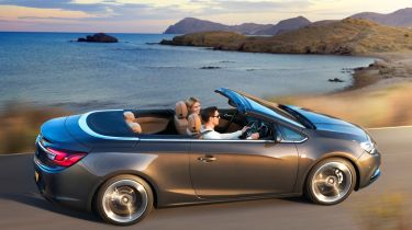 Vauxhall Cascada 2013 side with top down