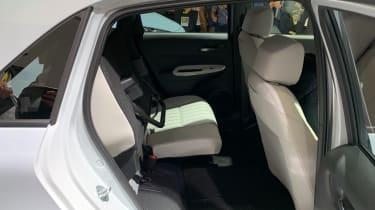 Honda Jazz hybrid rear seats - one seat up