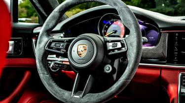 Porsche Panamera hatchback steering wheel