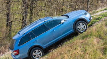 The Scout is pretty capable off road, though it's not as adept as a full SUV
