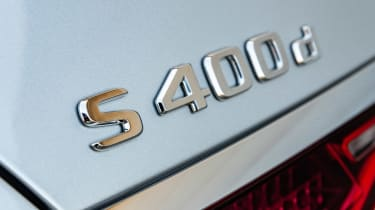 Mercedes S-Class saloon rear badge