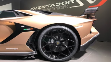Lamborghini Aventador SVJ 2019 Geneva rear wheel arch