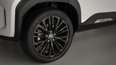 Toyota Yaris Cross Dynamic - close up of alloy wheels