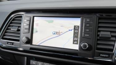 Cupra Ateca SUV - infotainment screen