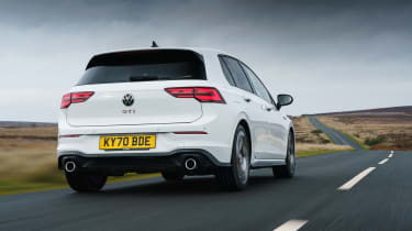 Volkswagen Golf GTI hatchback rear tracking