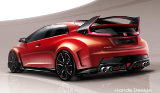 Honda Civic Type-R rear quarter sketch