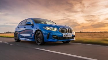 BMW 118i M Sport - dynamic front 3/4 view