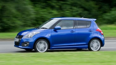 suzuki swift sport five door hatchback 2013 side